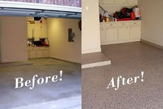 Beauteous Painting Concrete Floors Before And After: Painting Basement  Floor Ideas