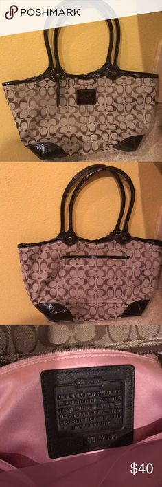 Coach Tote Chocolate and Tan Shoulder Tote excellent condition Coach Bags Totes