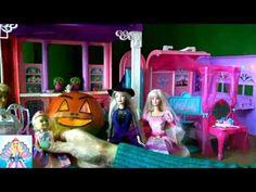 Russia Barbie15! Барби все серии подряд Halloween 1   4 серии, в доме ме...