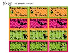 Printable Halloween Gift Tags  Instant by SweetFridaysChild, $2.00