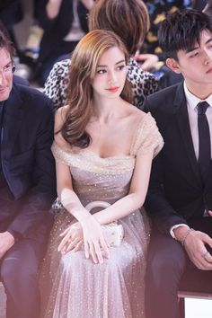 Angelababy attends Christian Dior HauteCouture Spring/Summer 2018 show at MinshengArt Wharf on March 29 2018 in Shanghai China
