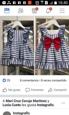 Baby Girl Dress Patterns, Little Girl Dresses, Baby Dress, Girls Dresses, Kids Frocks Design, Frocks For Girls, Frock Design, Baby Sewing, Cute Dresses