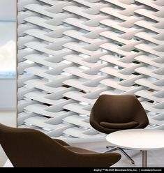 Zephyr by ModularArts, Inc.Sculptural Screen Walls Highly dramatic, full round partition walls add character to any new or existing space. Blocks fit together accurately for precise alignment and fast installation.