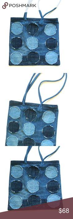 528f940470e TOTE BAG PURSE RECYCLED DENIM JEANS HAND MADE paroliro original design hand  made one-of