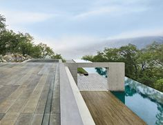 Found in Translation tadao ando house in monterrey 157' foot long infinity pool