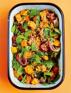 Prep Time: 15 Minutes   Cooking Time: 1 HourServes 4A robust, substantial dinner – any leftovers are ideal for a lunchtime treat. Use pearl barley if more readily available than spelt.