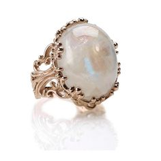 Rose Gold Rings NYC | Moonstones | Filigree Designs | Catherine Angiel - Catherine Angiel