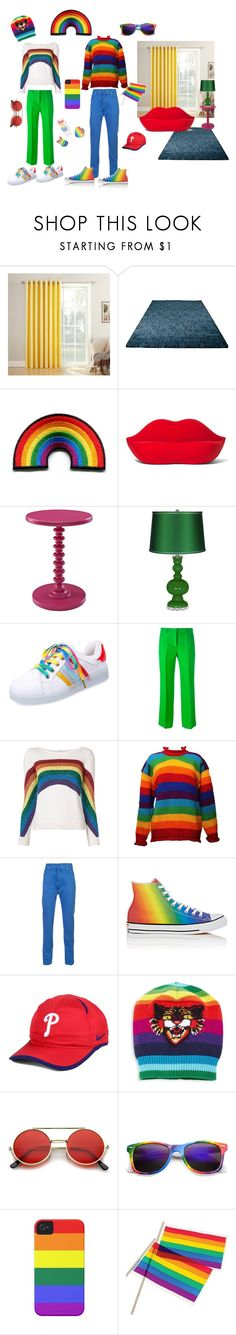 """pride"" by susibonvi ❤ liked on Polyvore featuring Gufram, Emilio Pucci, Marc Jacobs, Kiton, Converse, NIKE, Gucci, Case-Mate and pride"