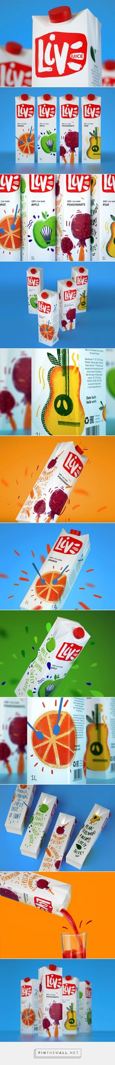 LIVE #Juice #packaging designed by Rushavel Sultanov - http://www.packagingoftheworld.com/2015/04/live-juice-concept.html