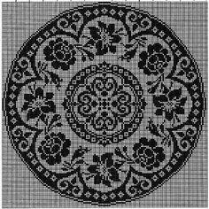 Kira scheme crochet: Scheme crochet no. Filet Crochet Charts, Crochet Diagram, Crochet Motif, Crochet Doilies, Crochet Patterns, Crochet Flower, Hand Embroidery, Beaded Embroidery, Embroidery Designs