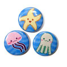 Cute ocean pins.