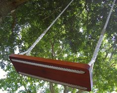 Swing with fisherman's knot instructions. I like the way the rope holes are hollowed out! | DIY ...