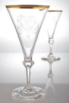 1 Weinglas Rüdesheimer Spiegelau Weinlaub Dekor weiß Goldrand Weißweinglas
