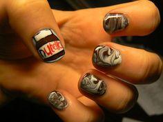 Nutella nails - ha ha