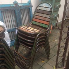 Recycled wood stacking chairs R675 each