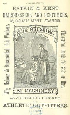 Hair-Brushing with Machinery, Advertisement 1886