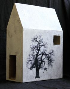 Winter House. Concrete, encaustic, Rob Matthews and Leslie Guinan, www.hiddenspringdesigns.com photograph by Hidden Spring Designs