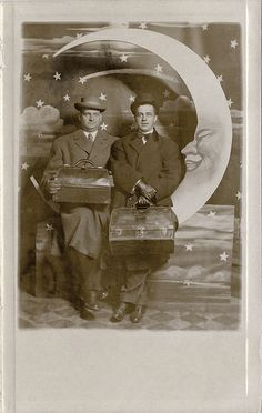 Traveling Salesmen on a Paper Moon - Real Photo Postcard | Flickr - Photo Sharing!