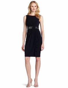Amazon.com: Maggy London Women's Beaded Waist Dress, Blueberry, 12: Clothing