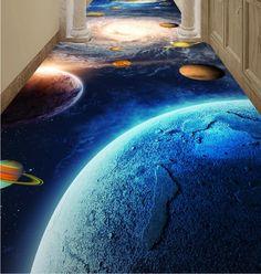 (52.98$)  Watch here - http://aifs3.worlditems.win/all/product.php?id=32678022705 - Customized 3d wallpaper floor bathroom planet corridor 3d floor wear self-adhesive waterproof pvc 3d photo wallpaper floor