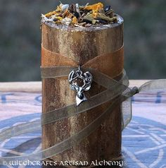 (8)CERNUNNOS Horned God Gilded Soy Candle w/ by ArtisanWitchcrafts