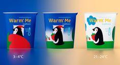 """Student: Kid's Yogurt """"Warm Me"""" — The Dieline - Branding & Packaging Design"""