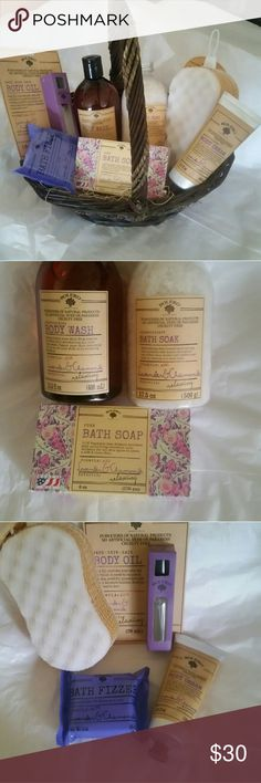 BOLERO  (BEVERLY HILLS ) Basket Bolero  (beverly hills ) body care basket. Body oil for (face skin hair ), skin soap, body Cream, bath fizzer, body wash, bath soak and body sponge. All are lavender and chamomile  ( relaxing ) suitable for all skin types. Great gift for any occasion. Other