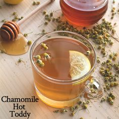 Chamomile Hot Toddy - Combine 1/8 cup hot water with 1/4 cup honey and ...