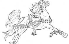 Carousel Horse Coloring Pages
