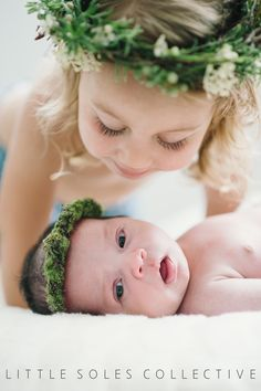 Newborn Photography • Baby Photography • Newborn Floral Arrangement • Sibling Photography • Sisters