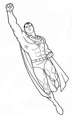 superman to color: copy and paste into a word doc