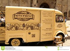 Vintage Citroen Truck Turned Into Mobile Bio Food Store - Download From Over 54 Million High Quality Stock Photos, Images, Vectors. Sign up for FREE today. Image: 31292511