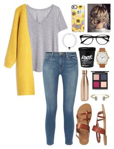 """Untitled #124"" by alyssa-wilsonn ❤ liked on Polyvore featuring H&M, Frame, Chicwish, Gap, Everest, EyeBuyDirect.com, Casetify, Nixon, S'well and The Body Shop"