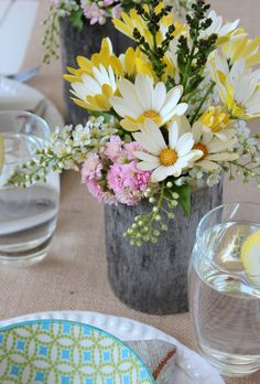 Country Garden Party Table Centerpieces - Wedding Centerpieces | Satori Design for Living