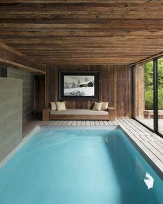 With just five rooms and a spa and restaurant, Chalet 1864 in the French Alps feels like a personal retreat Natural Swimming Pools, Swimming Pools Backyard, Swimming Pool Designs, Small Indoor Pool, Outdoor Pool, Indoor Outdoor, Piscina Spa, Backyard Pool Designs, Spa Rooms