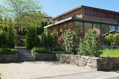 Helsingborg, Frank Lloyd Wright, Beautiful Homes, Mid-century Modern, Sidewalk, Villa, Mid Century, Garden, Houses