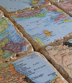 Cute idea! Maps from where you've traveled!