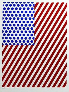 Roy Lichtenstein: American Flag 1985 Take a common recognizable symbol and make it your own