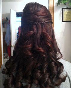 Kristen's hair for wedding 11-3-12