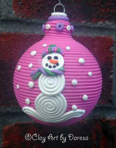 Hey, I found this really awesome Etsy listing at https://www.etsy.com/listing/158933355/snowman-snowlady-polymer-clay-christmas