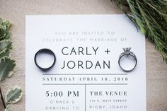 A simple, modern wedding invitation that is sure to wow your wedding guests! With a minimalist design, this design will give your wedding that modern feel youre looking for. This invitation comes as a 5x7 design, but coordinating inserts can be made upon request.  WHAT YOU ARE PURCHASING:  -A print-ready .jpg or .pdf file of this 5x7 template sent to your email after customization  IMPORTANT NOTE:  Let me take care of the hard part! Ill do the customizing and send the files back…
