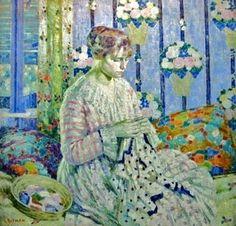 femme cousant, Louis Ritman (1889-1963)