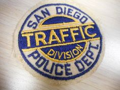 Old and hard to find San Diego, California police - traffic division patch in Collectibles, Historical Memorabilia, Police, Patches, California | eBay