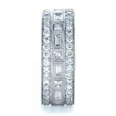 unique infiniti band with carved sides | Joseph Jewelry › Women's Wedding Rings › Custom Women's Diamond ...