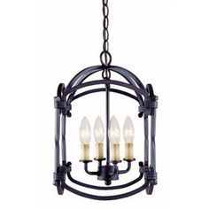 World Imports Iron 4 Light Hanging Lantern
