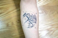 World compass tattoo by Hongdam