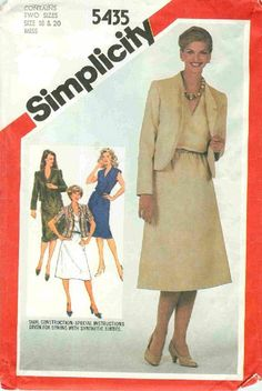 nice Pullover Dress Lined Jacket Simplicity 5435 Sewing by ...