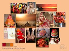 A Lovely Designs Indian wedding mood board in Red, Gold, Orange and Yellow  www.lovelydesigns.co.uk
