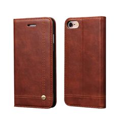 For IPhone 7/ 7 Plus Flip Cover Wallet Case Retro PU Leather Magnetic Phone Bags Cases For Apple IPhone 6 6S/6 6S Plus Pouch