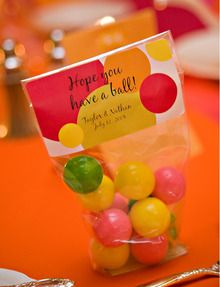 We have so many elegant, pretty DIY projects on SMP, I thought it was about time for a really fun, whimsical project. How cute are these Gumball Favors? Materials Clear flat bottom candy bags which can be purchased in bulk from candy store Lots of gum balls (about 10 per bag). They can be color…